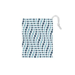 Circle Blue Grey Line Waves Drawstring Pouches (xs)  by Alisyart