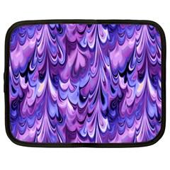 Purple Marble  Netbook Case (large) by KirstenStar