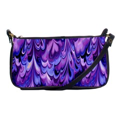 Purple Marble  Shoulder Clutch Bags by KirstenStar