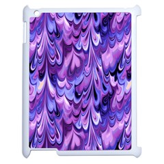 Purple Marble  Apple Ipad 2 Case (white) by KirstenStar