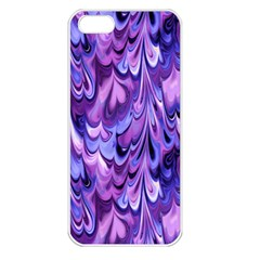 Purple Marble  Apple Iphone 5 Seamless Case (white) by KirstenStar