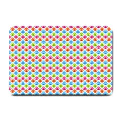 Colorful Floral Seamless Red Blue Green Pink Small Doormat  by Alisyart