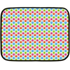 Colorful Floral Seamless Red Blue Green Pink Fleece Blanket (mini) by Alisyart
