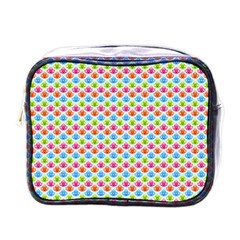 Colorful Floral Seamless Red Blue Green Pink Mini Toiletries Bags by Alisyart