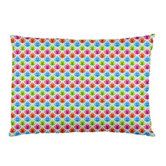Colorful Floral Seamless Red Blue Green Pink Pillow Case (two Sides) by Alisyart