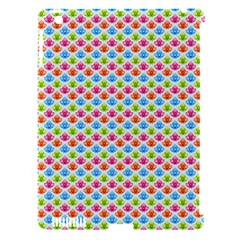 Colorful Floral Seamless Red Blue Green Pink Apple Ipad 3/4 Hardshell Case (compatible With Smart Cover) by Alisyart