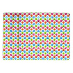 Colorful Floral Seamless Red Blue Green Pink Samsung Galaxy Tab 10 1  P7500 Flip Case by Alisyart