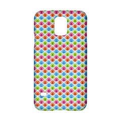 Colorful Floral Seamless Red Blue Green Pink Samsung Galaxy S5 Hardshell Case  by Alisyart