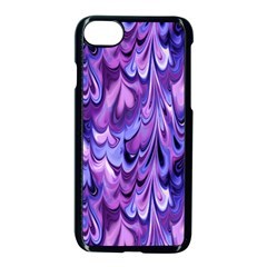 Purple Marble  Apple Iphone 7 Seamless Case (black) by KirstenStar