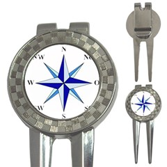 Compass Blue Star 3 In 1 Golf Divots by Alisyart