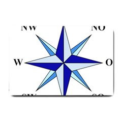 Compass Blue Star Small Doormat  by Alisyart