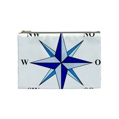 Compass Blue Star Cosmetic Bag (medium)  by Alisyart