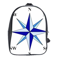 Compass Blue Star School Bags(large)  by Alisyart