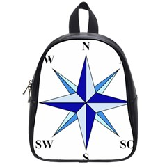 Compass Blue Star School Bags (small)  by Alisyart