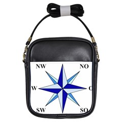 Compass Blue Star Girls Sling Bags by Alisyart