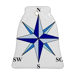 Compass Blue Star Ornament (bell) by Alisyart