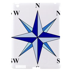 Compass Blue Star Apple Ipad 3/4 Hardshell Case (compatible With Smart Cover) by Alisyart