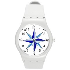 Compass Blue Star Round Plastic Sport Watch (m) by Alisyart