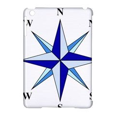 Compass Blue Star Apple Ipad Mini Hardshell Case (compatible With Smart Cover) by Alisyart