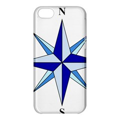 Compass Blue Star Apple Iphone 5c Hardshell Case by Alisyart