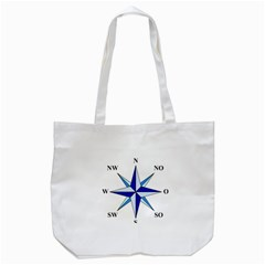 Compass Blue Star Tote Bag (white)