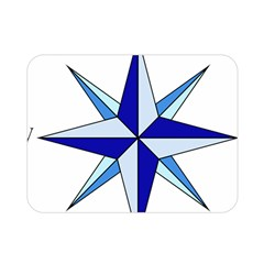 Compass Blue Star Double Sided Flano Blanket (mini)  by Alisyart