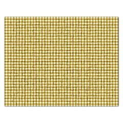 Golden Yellow Tablecloth Plaid Line Rectangular Jigsaw Puzzl by Alisyart