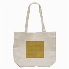 Golden Yellow Tablecloth Plaid Line Tote Bag (cream) by Alisyart
