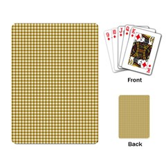 Golden Yellow Tablecloth Plaid Line Playing Card by Alisyart