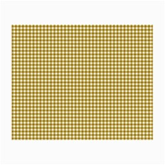 Golden Yellow Tablecloth Plaid Line Small Glasses Cloth (2 Side) by Alisyart