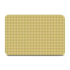 Golden Yellow Tablecloth Plaid Line Plate Mats by Alisyart