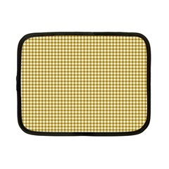 Golden Yellow Tablecloth Plaid Line Netbook Case (small)  by Alisyart