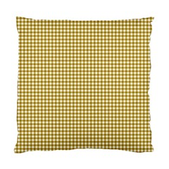 Golden Yellow Tablecloth Plaid Line Standard Cushion Case (two Sides) by Alisyart