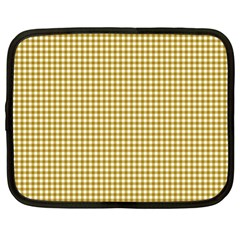 Golden Yellow Tablecloth Plaid Line Netbook Case (xl)  by Alisyart