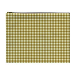 Golden Yellow Tablecloth Plaid Line Cosmetic Bag (xl) by Alisyart