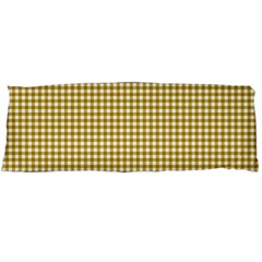 Golden Yellow Tablecloth Plaid Line Body Pillow Case (dakimakura) by Alisyart