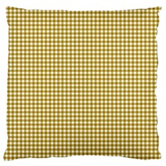 Golden Yellow Tablecloth Plaid Line Large Cushion Case (two Sides) by Alisyart
