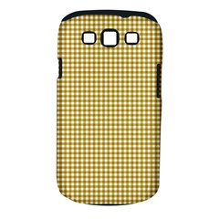 Golden Yellow Tablecloth Plaid Line Samsung Galaxy S Iii Classic Hardshell Case (pc+silicone) by Alisyart