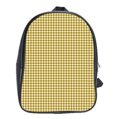 Golden Yellow Tablecloth Plaid Line School Bags (xl)  by Alisyart
