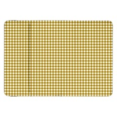 Golden Yellow Tablecloth Plaid Line Samsung Galaxy Tab 8 9  P7300 Flip Case by Alisyart
