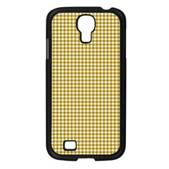Golden Yellow Tablecloth Plaid Line Samsung Galaxy S4 I9500/ I9505 Case (black) by Alisyart