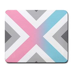 Flag X Blue Pink Grey White Chevron Large Mousepads by Alisyart