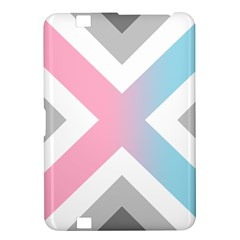 Flag X Blue Pink Grey White Chevron Kindle Fire Hd 8 9  by Alisyart