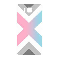 Flag X Blue Pink Grey White Chevron Samsung Galaxy Alpha Hardshell Back Case by Alisyart