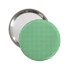 Green Tablecloth Plaid Line 2 25  Handbag Mirrors by Alisyart