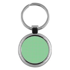 Green Tablecloth Plaid Line Key Chains (round)  by Alisyart