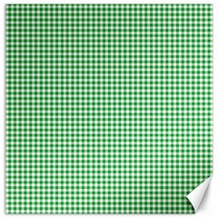 Green Tablecloth Plaid Line Canvas 16  X 16   by Alisyart