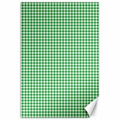 Green Tablecloth Plaid Line Canvas 20  X 30   by Alisyart