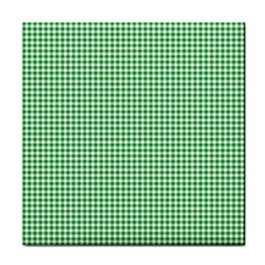 Green Tablecloth Plaid Line Face Towel by Alisyart