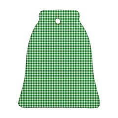 Green Tablecloth Plaid Line Bell Ornament (two Sides) by Alisyart